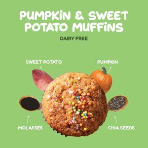Pumpkin & Sweet Potato Muffins
